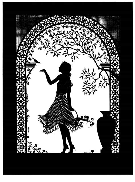 Beth White Whimsical Silhouettes Silhouette Templates For Paper Cutting