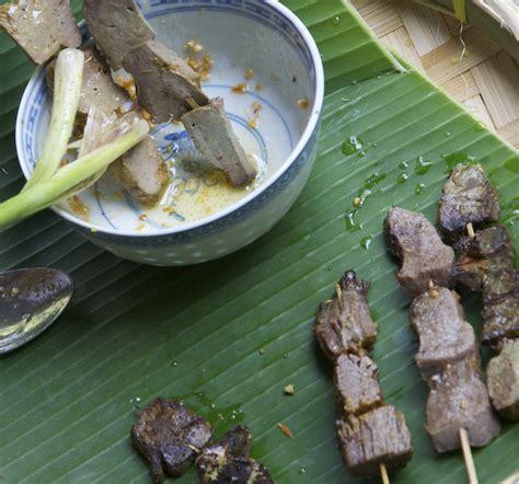 Tusukan Beras medan food sate padang padang style sate