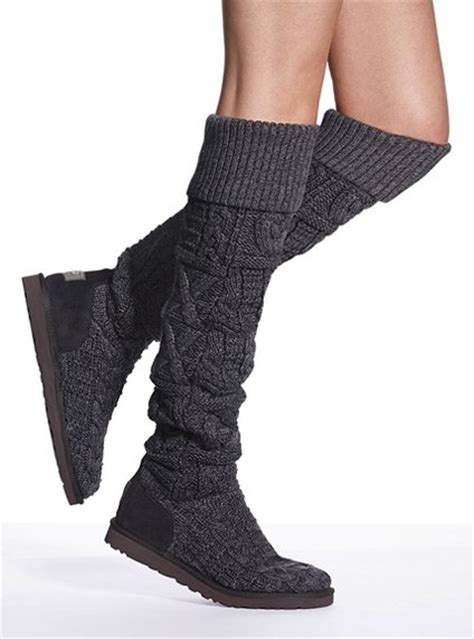 ugg the knee cable knit boots ugg the knee twisted cable boot favething