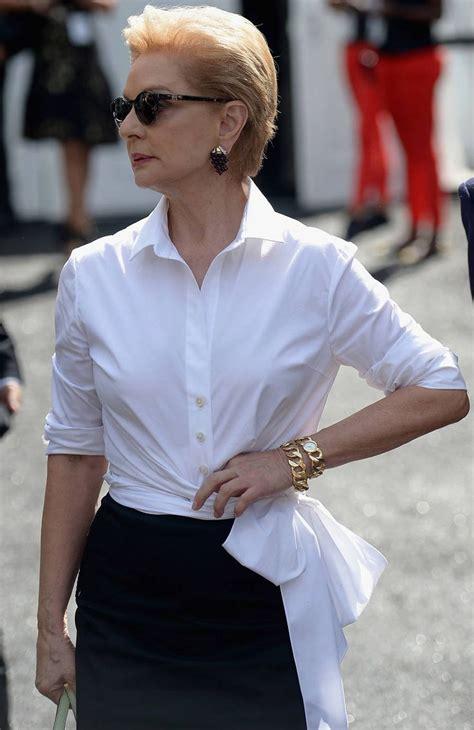 Caroline White 14 times carolina herrera proved that a white blouse and