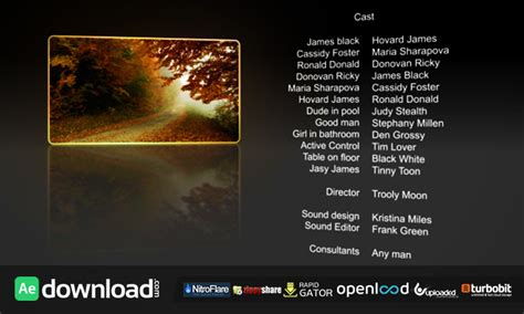 film credits free download videohive free after