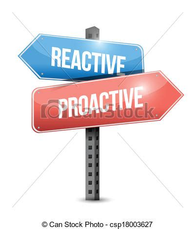 html reactive design reactive and proactive sign illustration design over a