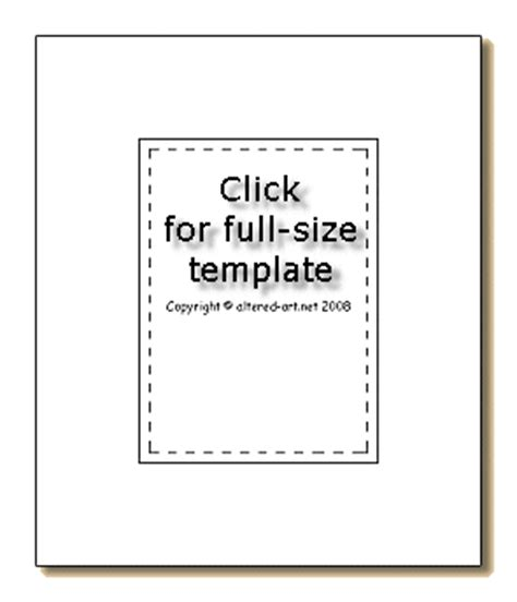 Trading Card Size Templates by Artist Trading Cards Template
