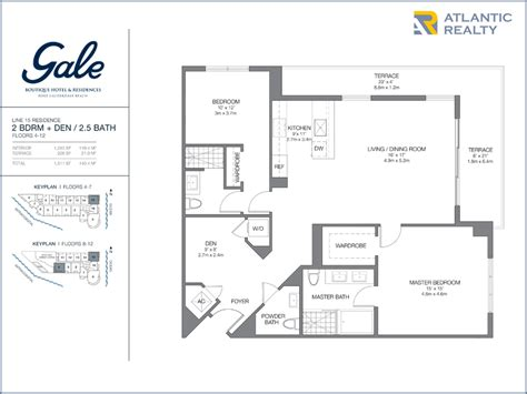 boutique floor plan gale boutique hotel residences new florida homes
