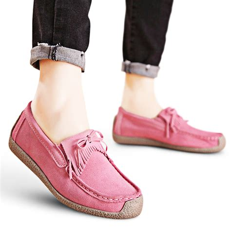 Flat Shoes Sneakers Fanta sepatu wanita 6 warna flat shoes suede loafers slip