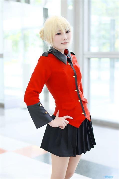 fetscom cosplay in pantyhose uniforms nylon blonde hair blouse braid cosplay darjeeling girls und