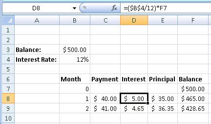 Excel Template To Calculate Credit Card Interest by How To Create A Credit Card Payment Calculator