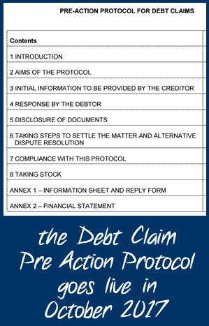 pre action protocol for debt claims now final 183 debt camel