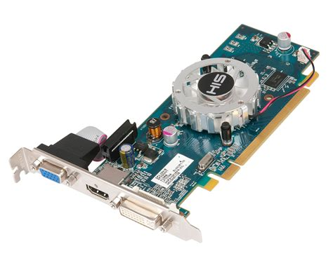 Vga Card Add On his 5450 fan 512mb ddr2 pcie dvi hdmi vga