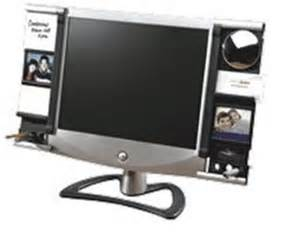 Desk Top Accessories An Aspect Monitor Accessory Frame Will Add Versatility To Your Desktop Cubiclebliss