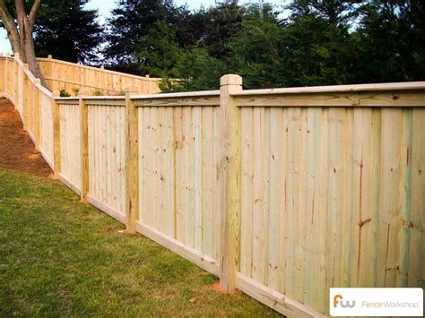 Privacy Fence Plans by Custom Board On Board Fence Traditional Privacy Fences