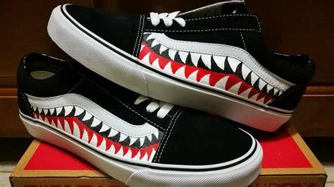 Sepatu Vans X Bape custom vans 改bape 鯊魚