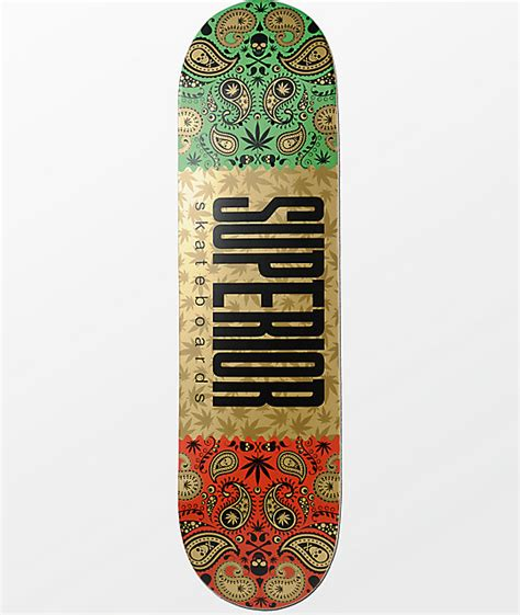 gold skateboard deck superior gold bandana 8 25 quot skateboard deck at zumiez pdp