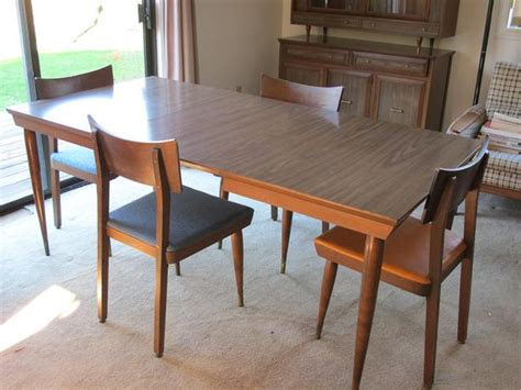 dining table with matching hutch retro 60s dining room table matching chairs and hutch