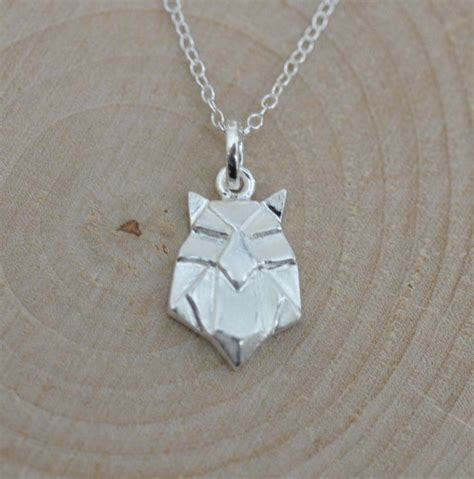 Etsy Origami Owl - sterling silver origami owl necklace origami animal jewelry