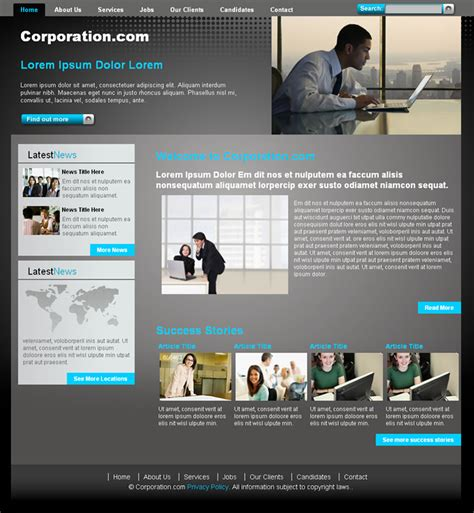 corporative website ii dreamweaver templates