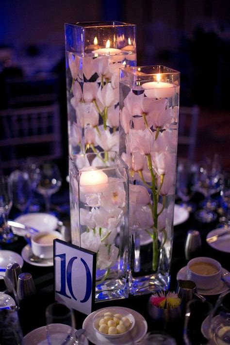 orchid centerpieces centerpieces clear glass containers