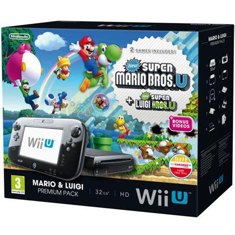 wii u console bundle wii u console 32gb premium bundle black includes new