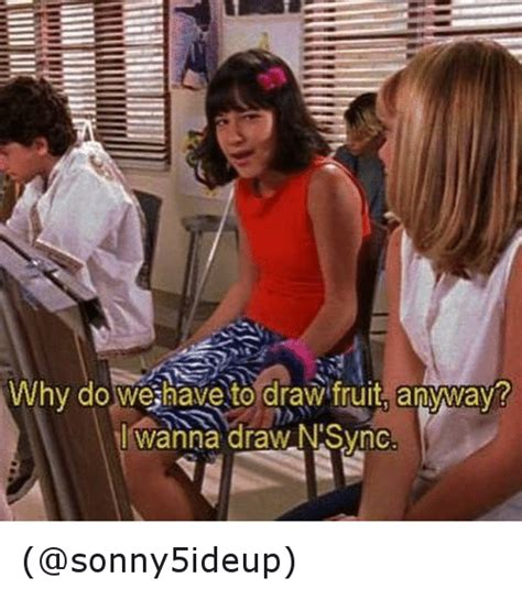 Nsync Meme - why do we have to draw fruit anyway l wanna draw n sync