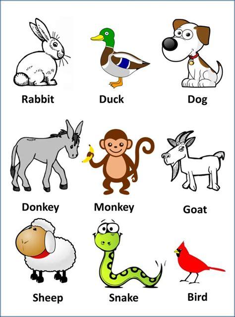 dibujos infantiles ingles dibujos con palabras de animales en ingles para ni 241 os