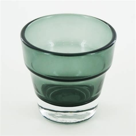 Glass Candle Base Thick Flower Pot Green Glass Candle Holder Heavy Base