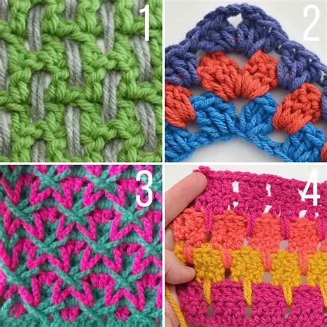 color stitch 20 multi color crochet stitch tutorials make do crew