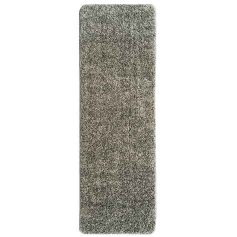 shaggy collection rugs ottomanson luxury shaggy collection shag solid design gray 2 ft 2 in x 6 ft rug runner