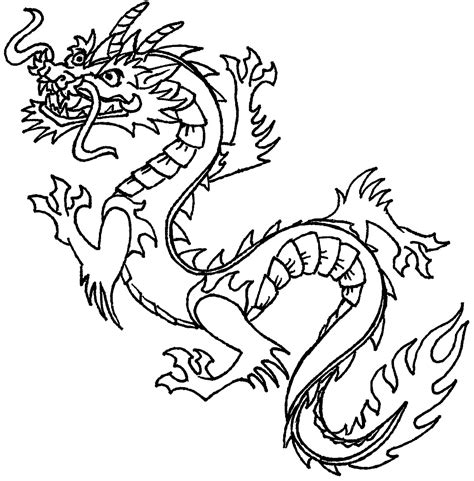 Coloring Page Chinese Dragon | free printable chinese dragon coloring pages for kids