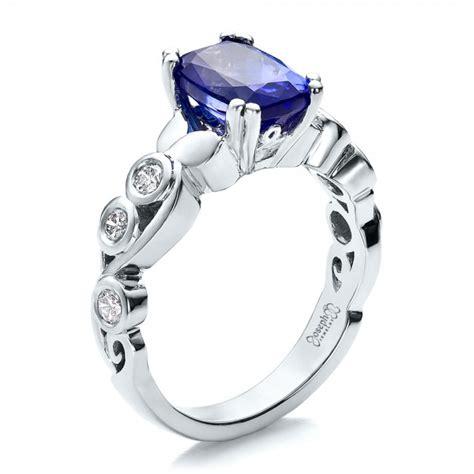 custom tanzanite and engagement ring 100112