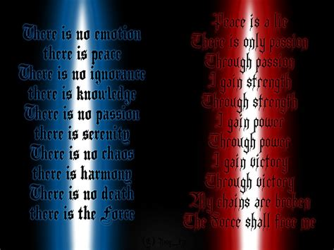 sith code tattoo i want the jedi code as a