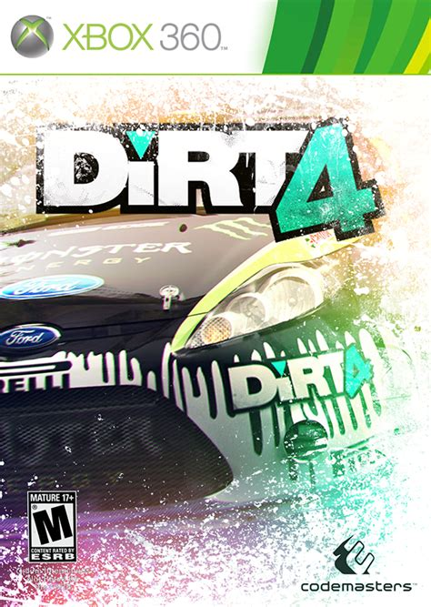 design xbox cover dirt 4 xbox cover design on behance