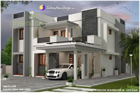 2230 Sq Ft 4 Bhk Contemporary Modern Indian Home Design By Home Design Pictures
