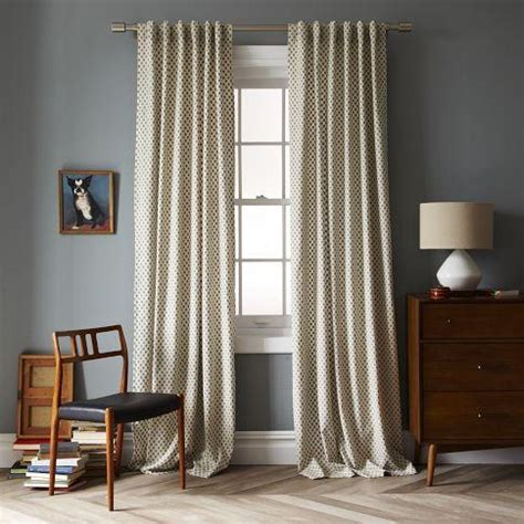 west elm curtain panels jacquard leaf window panel west elm