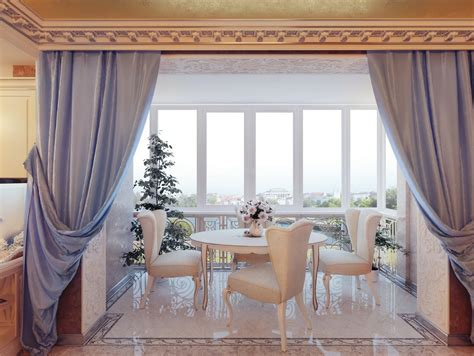 Curtains For Dining Room Ideas Real Regal Living 12 Palace Inspired Home Inspirations Freshome