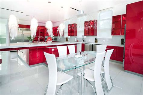 Kitchen Islands With Cabinets 27 Red Kitchen Ideas Cabinets Amp Decor Pictures