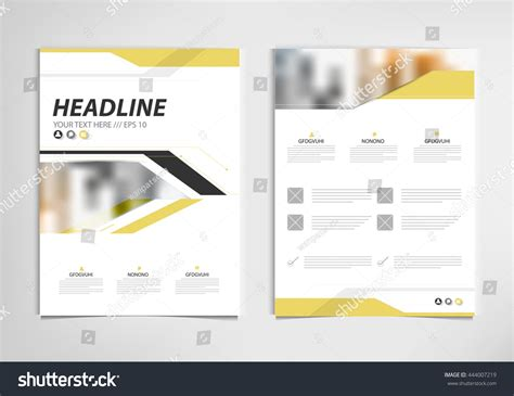book report brochure template yellow annual report brochure template design stock vector