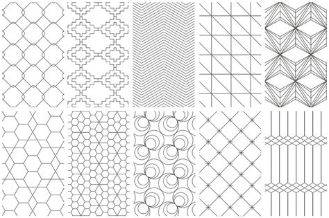 design pattern in net with exle simple line geometric patterns graphics youworkforthem