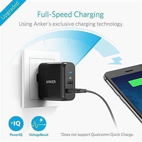 anker wall charger powerport 2 anker 2 port 24w usb wall charger powerport 2 with poweriq