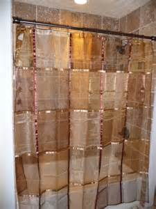 terracotta shower curtain ex cell home fashions mosaic fabric shower