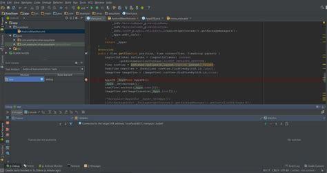 android studio debug layout java debugger shows empty when using debug mode quot android