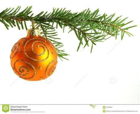 orange christmas bauble royalty free stock image image
