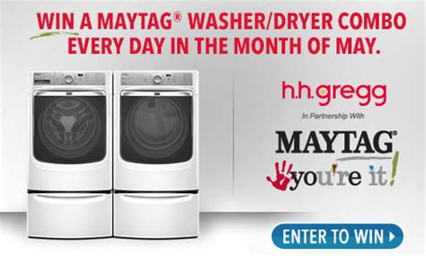 Laundry Pair A Day Giveaway by H H Gregg Enter To Win A Maytag Washer And Dryer Set