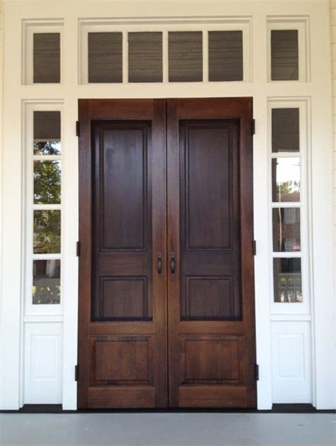 20 Beautifully Classic Farmhouse Stained Wood Doors Farmhouse Exterior Doors