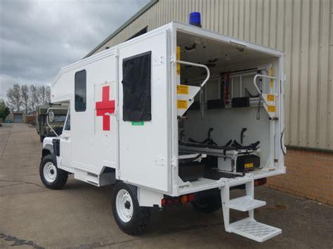 land rover wolf ambulance land rover 130 defender wolf rhd ambulance for sale mod