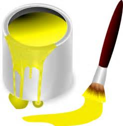 yellow paint yellow paint with paint brush clip at clker
