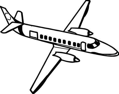coloring page airplane outline fine airplane coloring page wecoloringpage