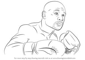 learn draw floyd mayweather boxers step step drawing tutorials