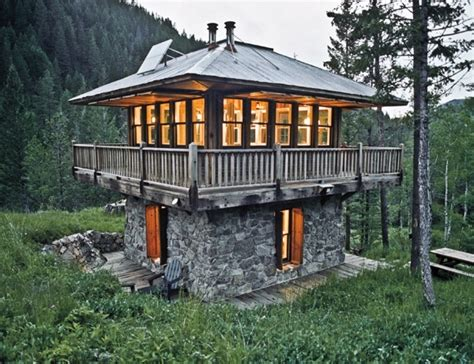Small Two Story Cabin by Two Story Lookout Small Cabin Favething