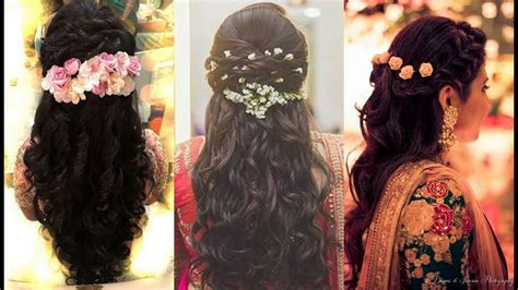 indian bridal hairstyles youtube south indian bridal hairstyles for reception north indian