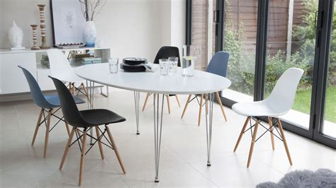 eames oval dining table ellie oval extending and eames style dining set